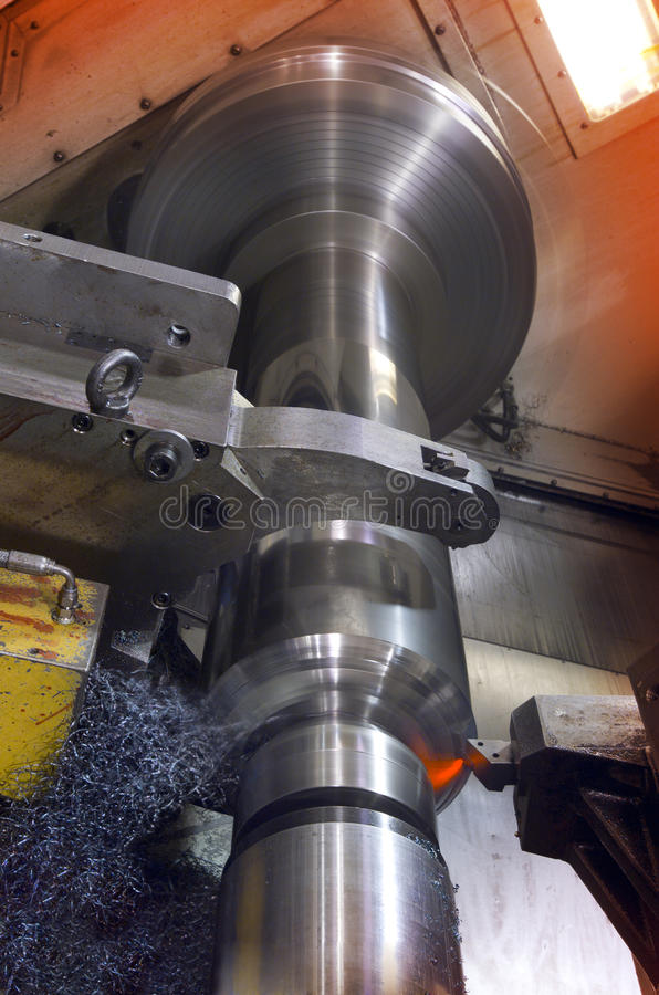 Industrial cutting lathe royalty free stock photography