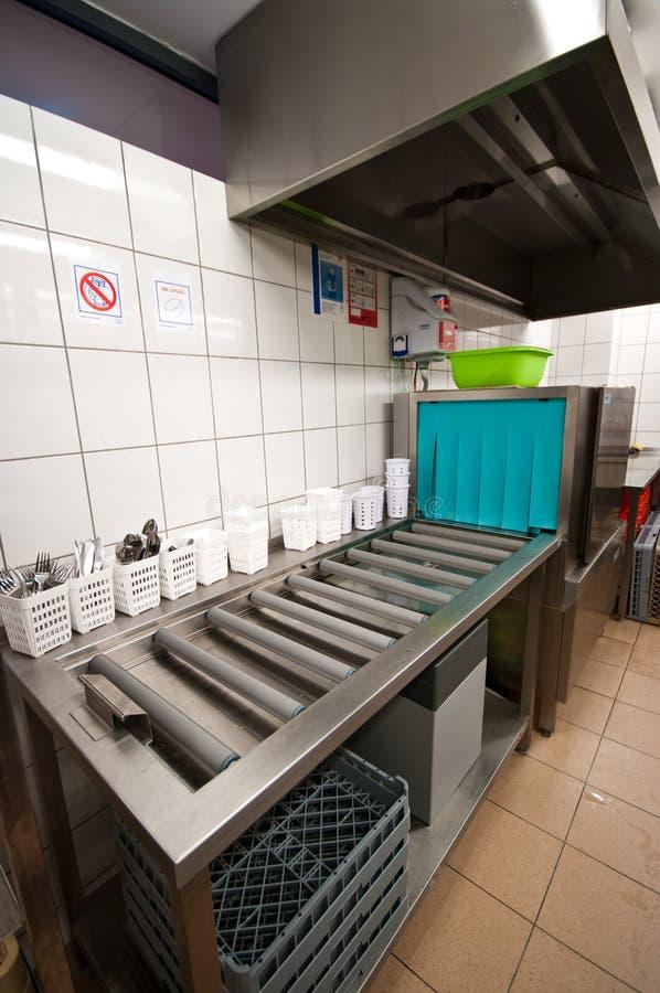 Industrial dishwasher royalty free stock photo