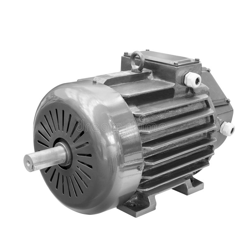 Industrial electric motor isolated on white background royalty free stock photos