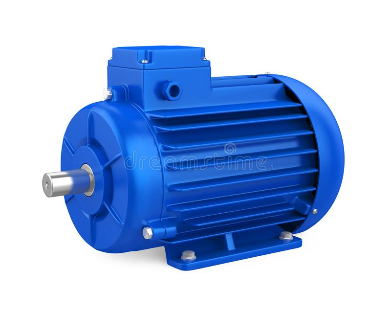 Industrial Electric Motor Isolated stock photos