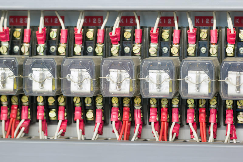 Industrial electrical equipment royalty free stock photo