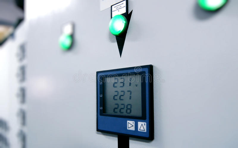 Industrial electrical switch panel stock images