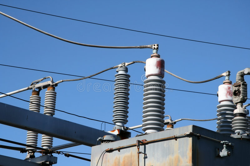 Industrial Electricity Plant. With Some Damaged Coils stock images