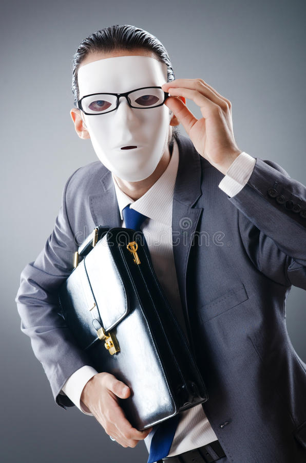 Download Industrial Espionate Concept - Masked Businessman Stock Image - Image: 22780349