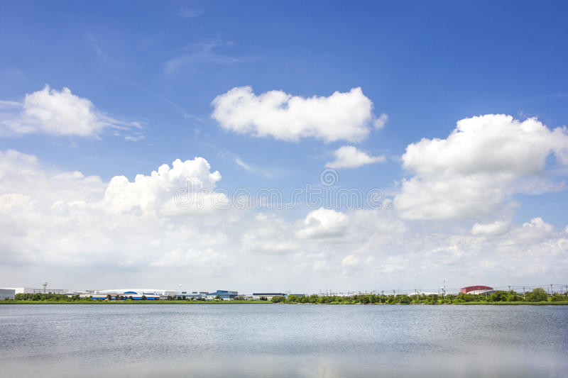 Industrial Estates Area And Nature Conservation Royalty Free Stock Images