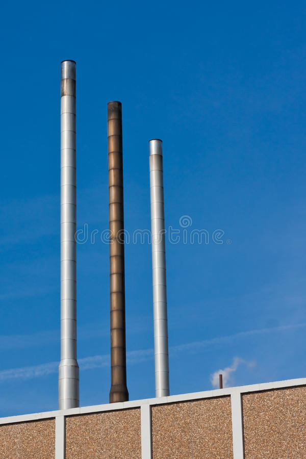 Download Industrial exhaust pipes stock photo. Image of brick - 13235588