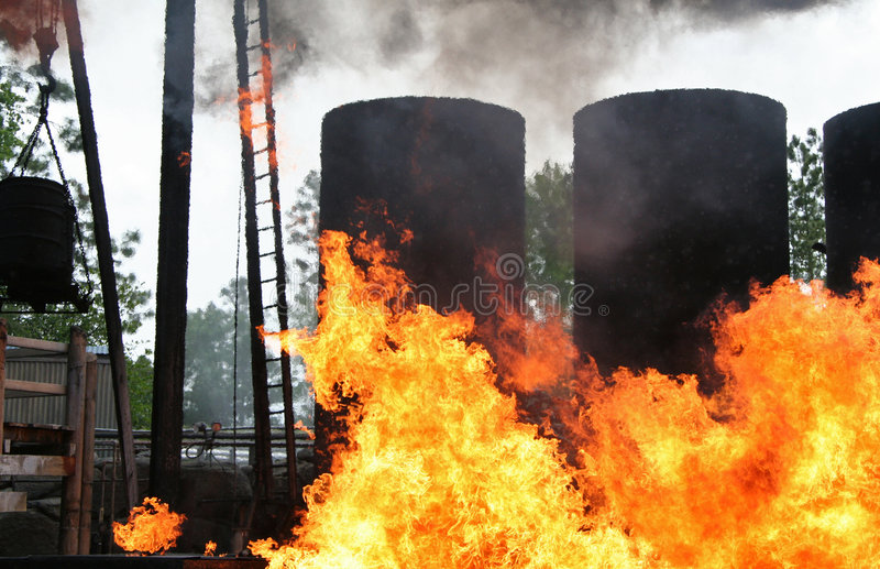 Download Industrial Explosion stock image. Image of flames, stack - 715521