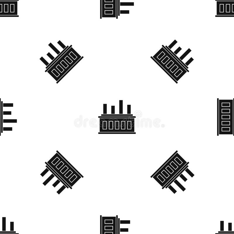 Free Industrial Factory Building Pattern Seamless Black Royalty Free Stock Images - 106257549