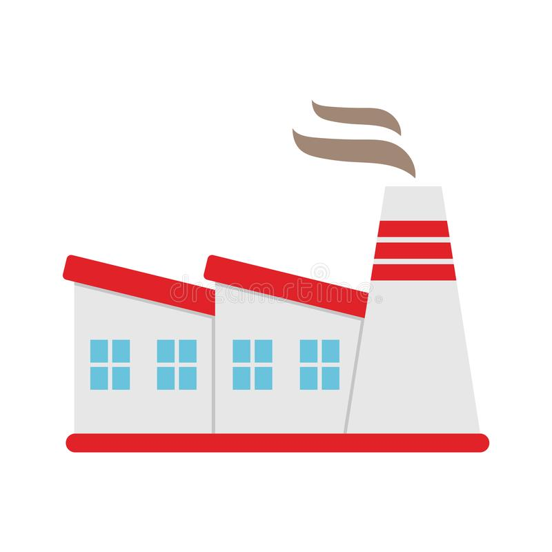 Industrial factory buildings icon. Vector flat illustration. royalty free illustration
