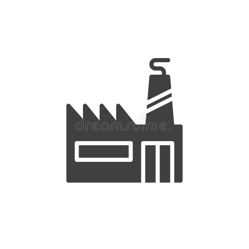 Industrial factory with chimneys icon vector stock illustration