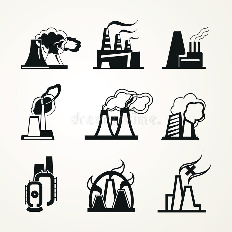 Download Industrial Factory Icons stock vector. Illustration of power - 42185725