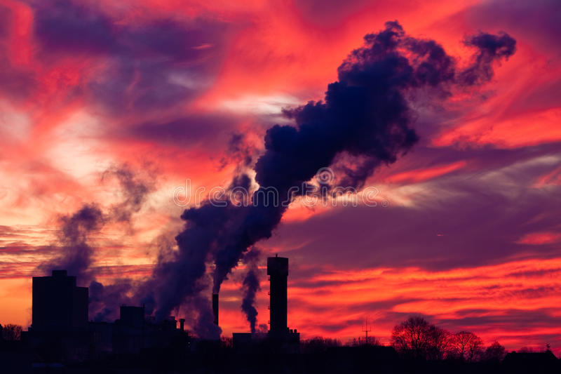 Download Industrial Factory  At Sunset Stock Image - Image: 12344981