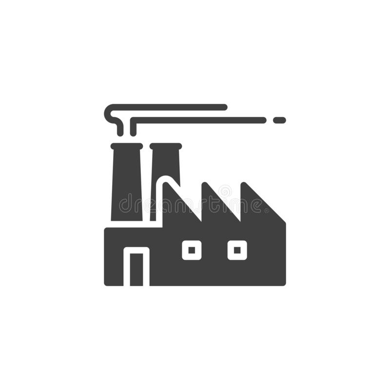 Industrial factory vector icon royalty free illustration