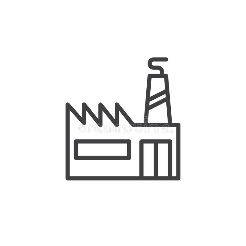 Free Industrial Factory With Chimneys Line Icon Stock Image - 105503991