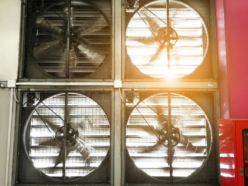 Industrial Fan Factory ventilation and heating stock photography