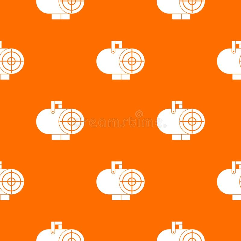 Industrial fan heater pattern seamless. Industrial fan heater pattern repeat seamless in orange color for any design. Vector geometric illustration royalty free illustration