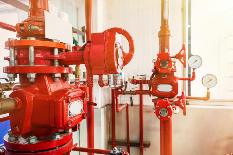 Industrial fire control system. Background stock photos