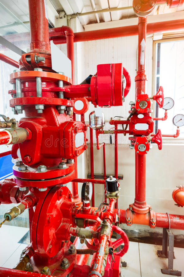 Industrial fire control system. Background stock image