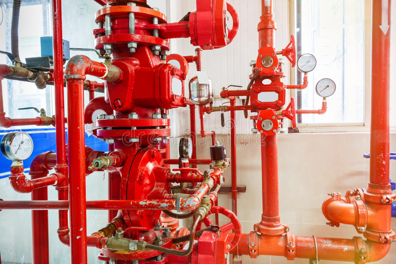 Industrial fire control system. Background royalty free stock photography