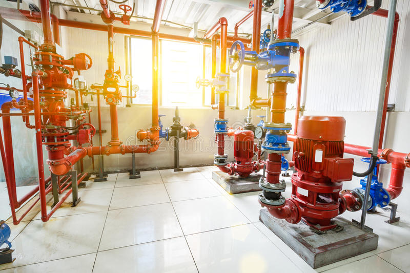 Industrial fire control system. Background stock photography