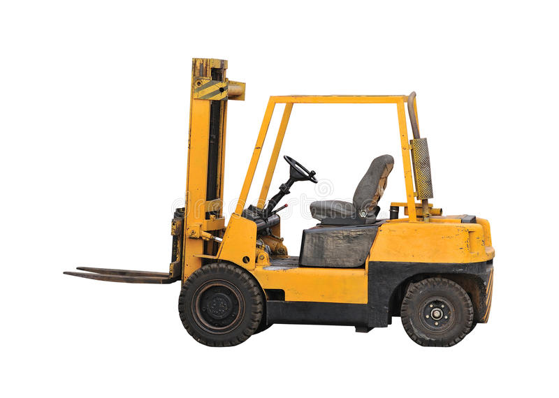 Industrial fork lift truck royalty free stock images