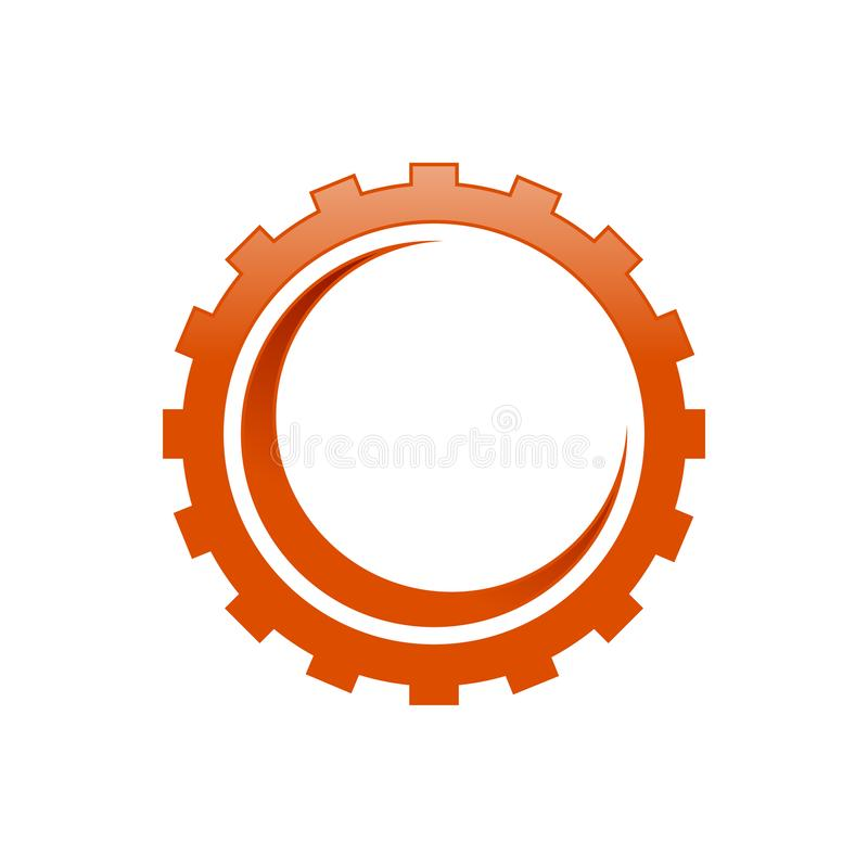 Industrial Gear Cog with Crescent Shape Inside royalty free stock image