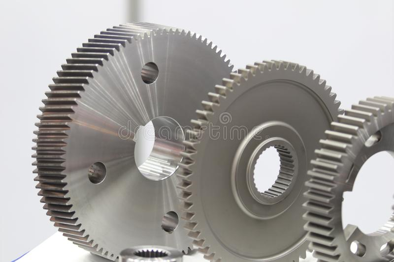 Industrial gear spare parts for heavy machine royalty free stock photo