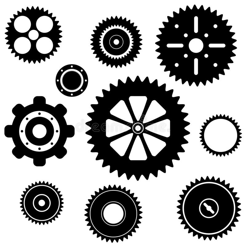 Industrial gear wheel set royalty free illustration