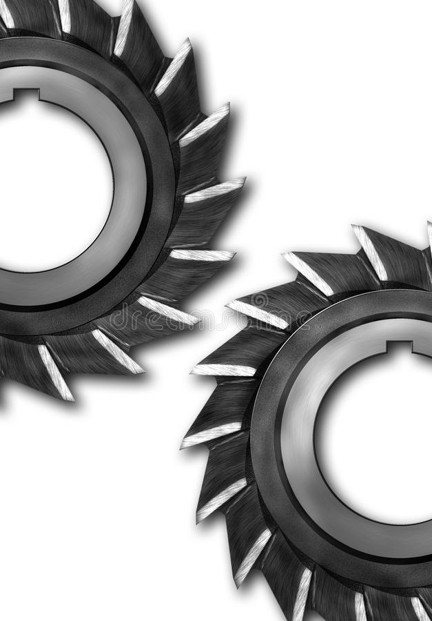 Industrial gears royalty free illustration