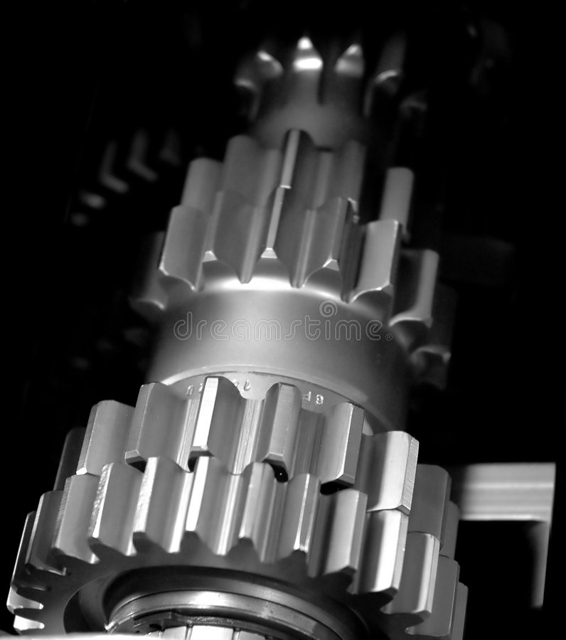 Industrial Gears Background royalty free stock image