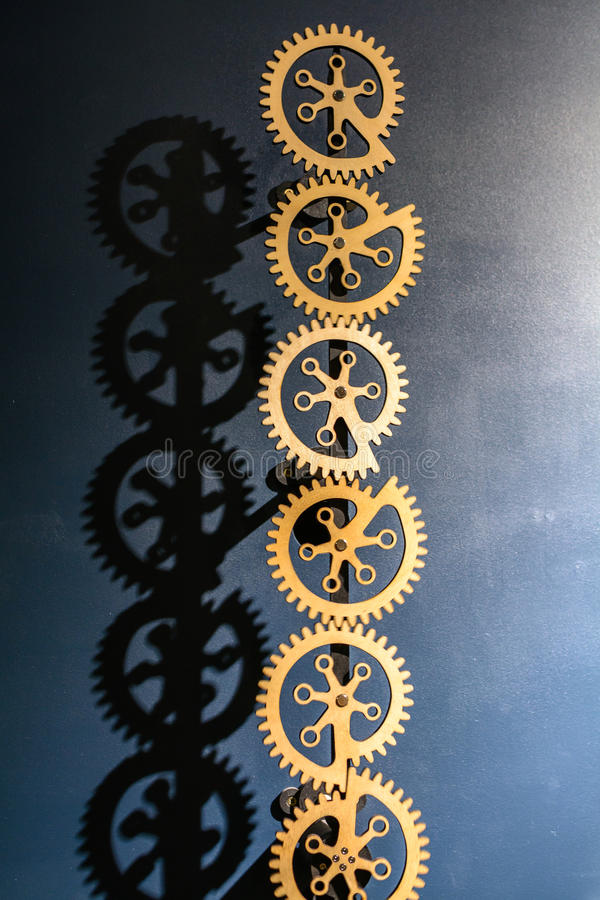 Industrial gears background. Industrial metal background with si royalty free stock photography