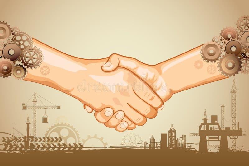 Download Industrial Handshake stock vector. Illustration of building - 26175234