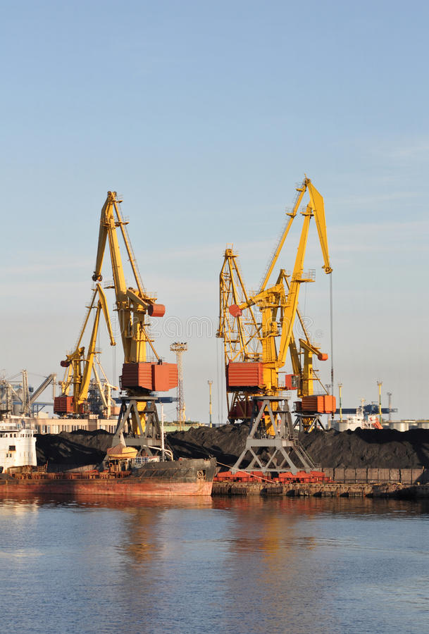 Download Industrial Harbor Crane stock image. Image of stock, manufacturing - 21684761