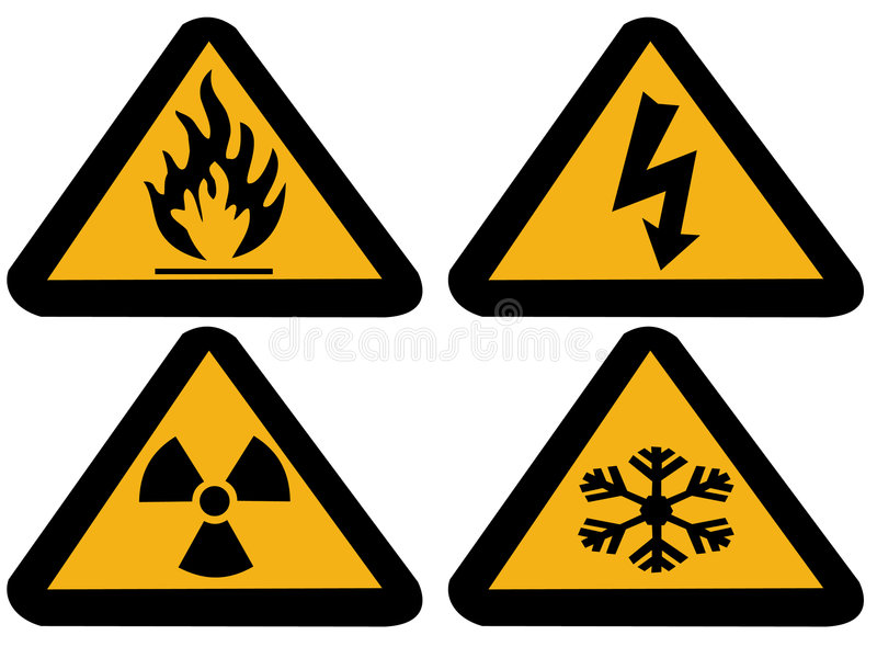 Download Industrial hazard symbols stock illustration. Image of cold - 1867878