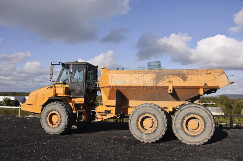 Industrial heavy mining earth truck stock image