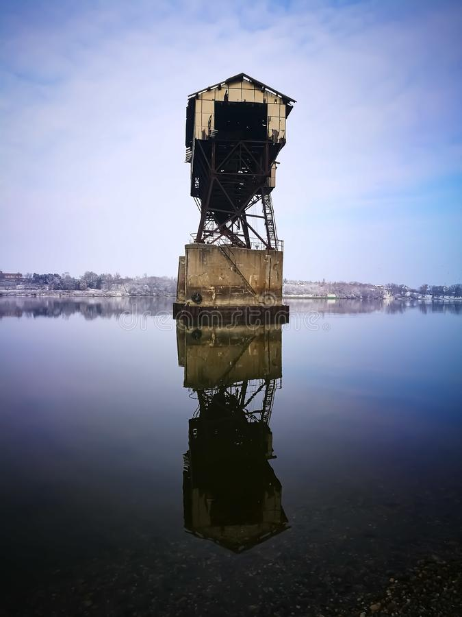 Coal loader tower royalty free stock image
