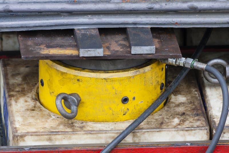 Industrial Hydraulic Cylinder stock photos