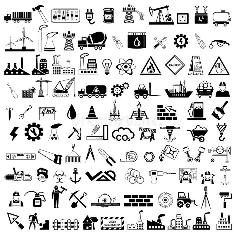 Industrial Icon royalty free illustration