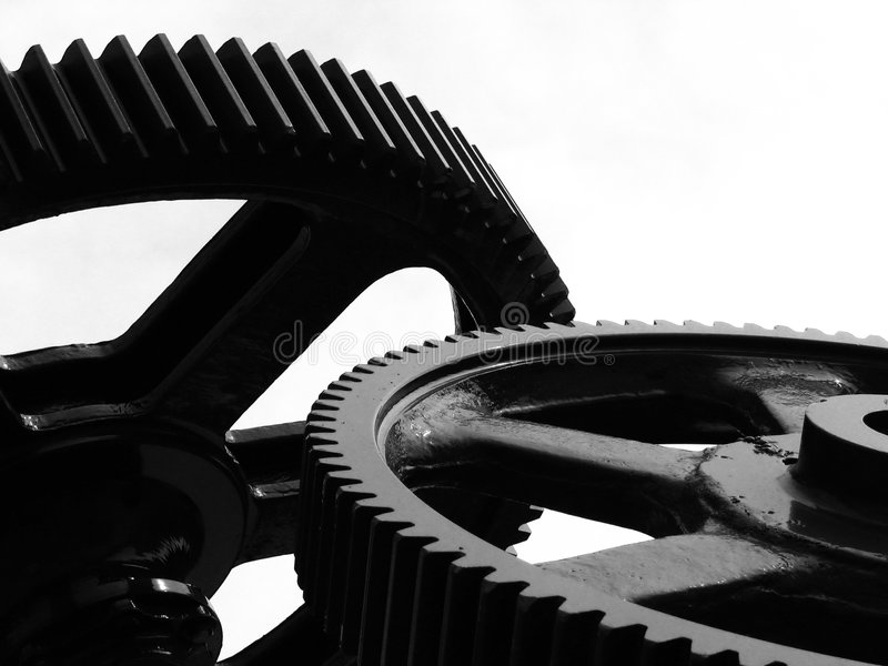 Industrial Impressions. Symbolized by large gears royalty free stock image