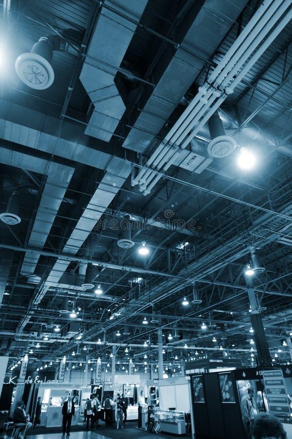 Industrial interior background stock photo
