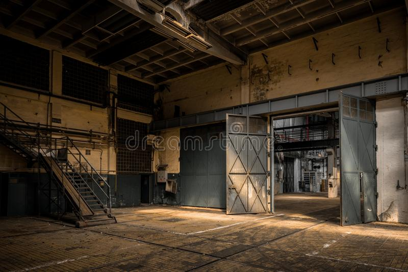 Industrial interior of an old factory stock photo image for 2e hands meubels