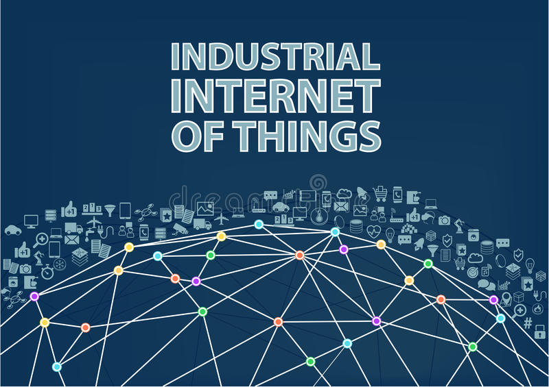 Industrial internet of things illustration background. royalty free illustration