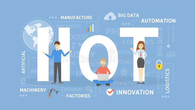 Industrial Internet of things. royalty free illustration