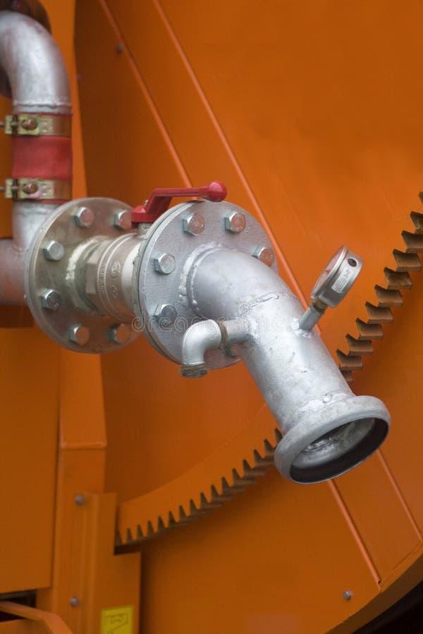 Industrial irrigation machine stock photos