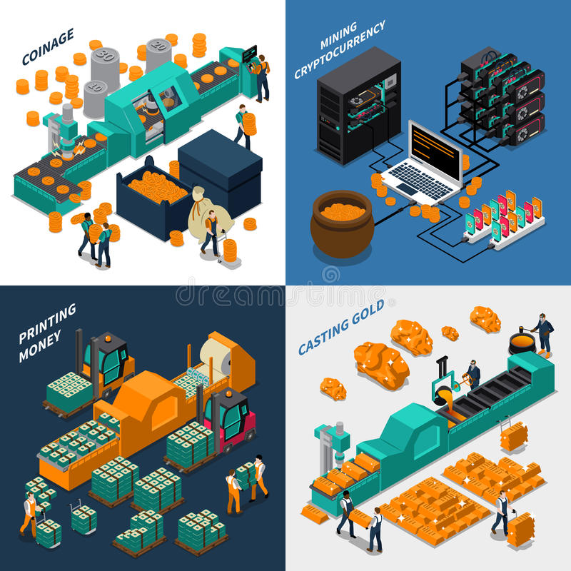 Industrial Isometric Concept vector illustration