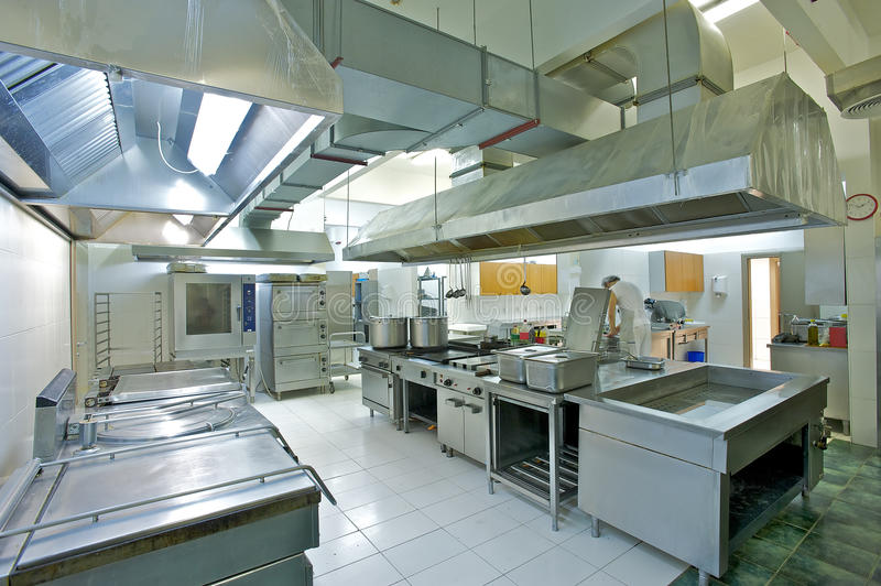 Industrial kitchen stock image of steel unit