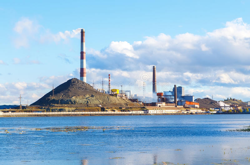 Industrial landscape in Karabash, Chelyabinsk region, Russia. Industrial landscape in the Karabash, Chelyabinsk region, Russia royalty free stock image