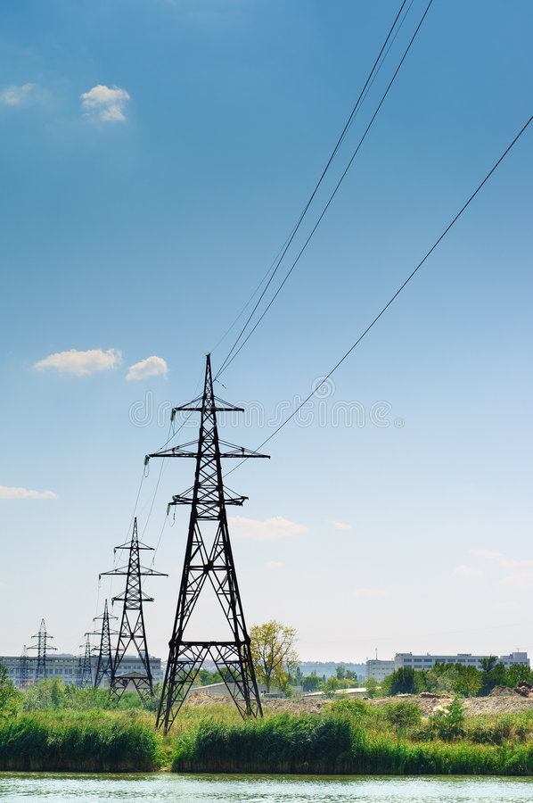 Free Industrial Landscape, Power Lines Stock Images - 7708544