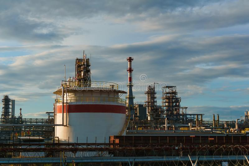Industrial landscape - refinery royalty free stock photography
