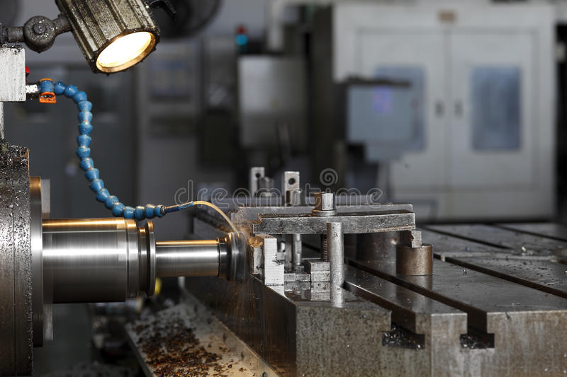 Industrial lathe royalty free stock image